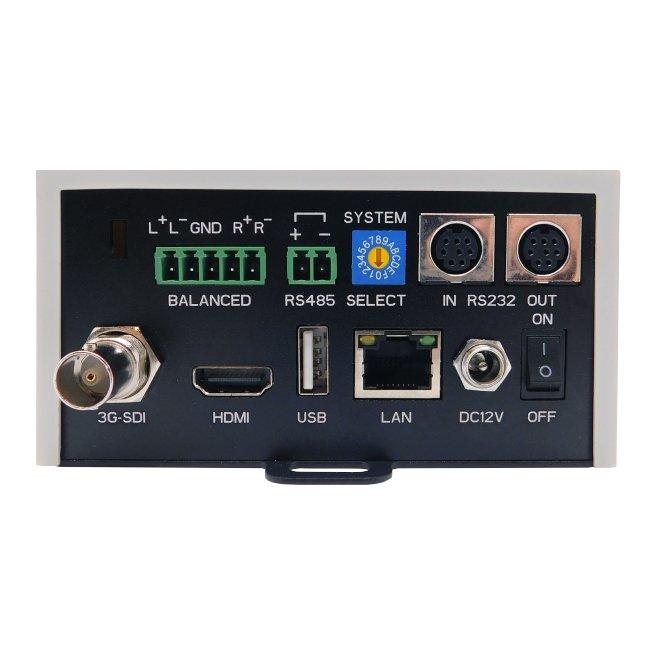 Avonic CM70 IP PTZ camera, 20x zoom back of camera