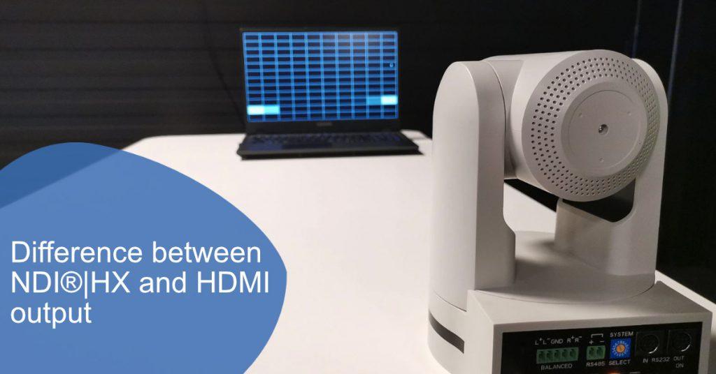 Difference between NDI|HX and HDMI